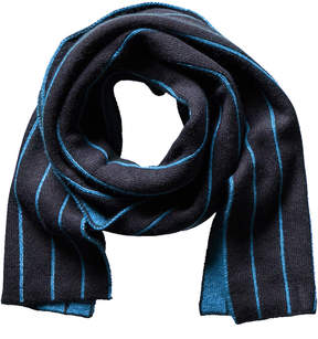 Portolano Minerva Navy Wool & Angora-Blend Scarf