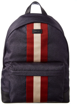 Bally Hingis Striped Nylon Backpack