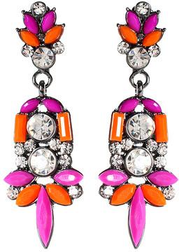Amrita Singh Orange & Pink Austrian Crystal Holi Drop Earrings