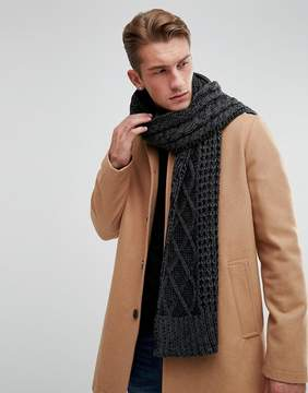 Jack and Jones Scarf In Cable Knit