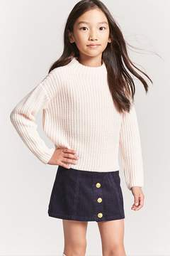 Forever 21 Girls Mock Neck Sweater (Kids)