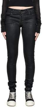 Drkshdw Black Detroit Waxed Denim Jeans