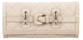Burberry Quilted Patent Leather Wallet