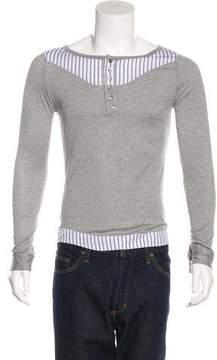 Christian Dior 2006 Striped Henley T-Shirt