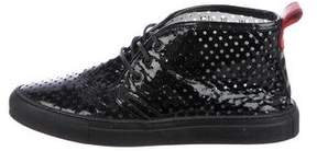 Del Toro Patent Leather Chukka Sneakers