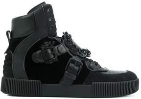 Dolce & Gabbana baroque buckle hi-top sneakers
