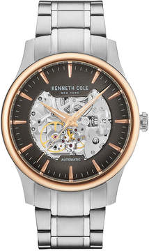 Kenneth Cole New York Men's Automatic Skeleton Stainless Steel Bracelet Watch 42mm KC15110001