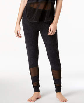 Lush Ande Luxe Mesh-Panel Jogger Pajama Pants