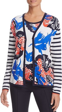 Basler Mixed-Print Cardigan