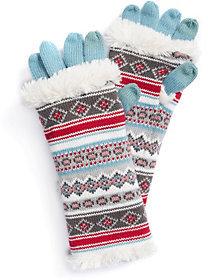 Muk Luks Women's Fairisle 3-in-1 Gloves