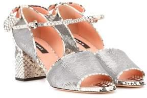 Rochas Sequin embellished leather sandals