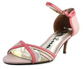 Nina Chantelle Open-toe Leather Heels.