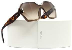 Prada PR 15TS VIQ6S1 Light Brown Rectangle Sunglasses