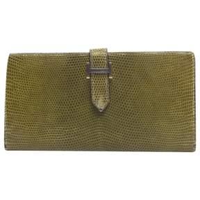 Hermes Béarn lizard wallet - GREEN - STYLE