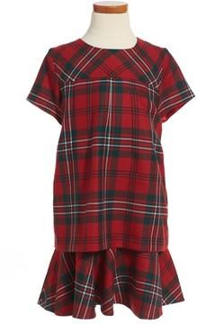 Oscar de la Renta Girl's Plaid Wool Dress