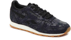 Reebok Classic Embossed Sneaker -Black Metallic - Women's