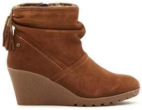 Sporto Wind Waterproof Suede Wedge Bootie with Tassels