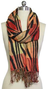 Saachi Womens Autumn Striped Scarf.