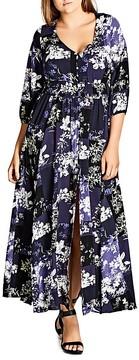 City Chic Kiku Floral Print Maxi Dress