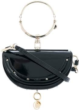 Chloé Patent Minaudiere Nile Bag - Navy