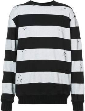 Amiri distressed stripe sweatshirt