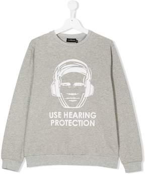 John Richmond Kids TEEN hearing protection sweatshirt