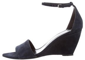 Narciso Rodriguez Suede Wedge Sandals