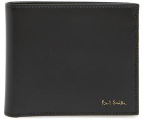 Paul Smith Men's Multistripe Leather Bifold Wallet - Black