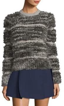 Carven Fuzzy Stripe Sweater