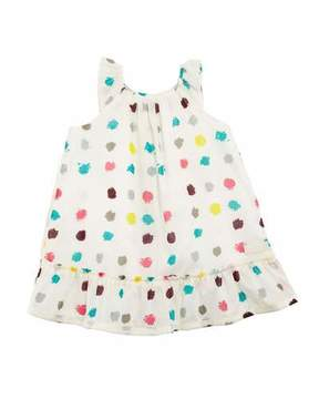 Burberry Tania Dot-Print A-Line Dress, Size 6M-3