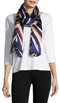 Vince Camuto Paint Stripe Oblong Silk Scarf