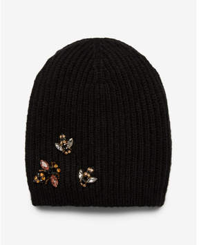 Express embellished bee knit beanie