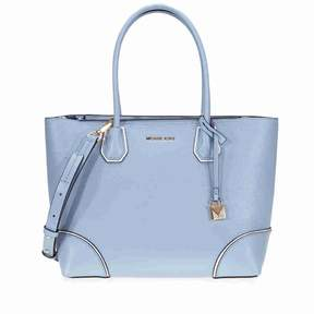 Michael Kors Mercer Gallery Medium Leather Tote- Pale Blue - BLUE - STYLE