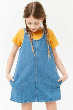 Forever 21 Girls Denim Overall Dress (Kids)