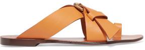 Chloé Nils Textured-leather Sandals - Pastel orange