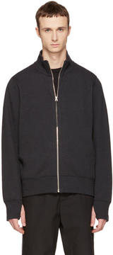 Rag & Bone Black Trooper Zip-Up Sweater