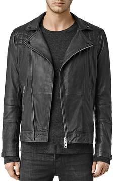 AllSaints Kushiro Leather Slim Fit Moto Jacket