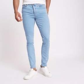 River Island Mens Light blue Sid skinny fit jeans