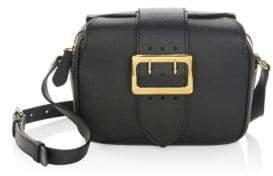 Burberry Zip Buckle Leather Crossbody Bag - BLACK - STYLE