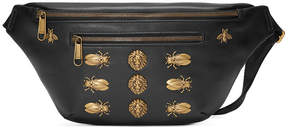 Gucci Leather belt bag with animal studs - BLACK - STYLE