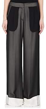 Derek Lam Women's Chiffon Wide-Leg Tuxedo Trousers