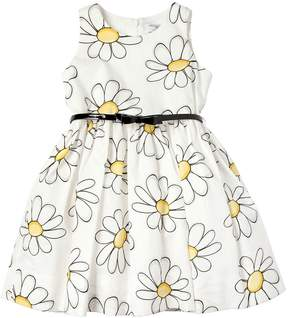 MonnaLisa Daisy Printed Cotton Poplin Dress