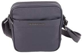 Trussardi Women's Grey Leather Shoulder Bag.