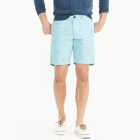 J.Crew 9 Cotton Short With Embroidered Flamingos