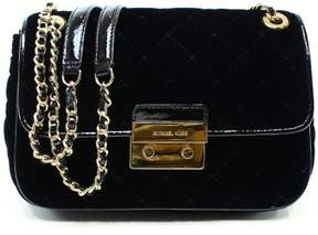 Michael Kors Black Gold Sloan Chain Quilted Shoulder Purse Bag - BLACKS - STYLE