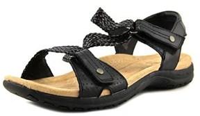 Earth Origins Stella Women W Open-toe Leather Black Slingback Heel.