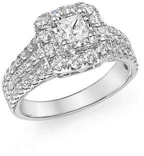 Bloomingdale's Diamond Princess Cut Engagement Ring in 14K White Gold, 1.50 ct. t.w. - 100% Exclusive