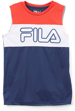 Fila Medieval Blue & Coral Color Block Core Tank - Boys