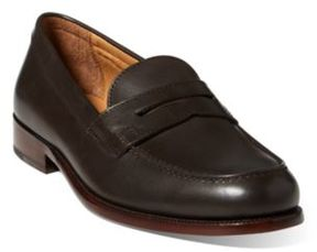 Ralph Lauren Agustin Calfskin Penny Loafer Dark Brown 10