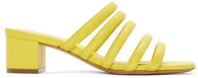 Mansur Gavriel Yellow Multi Strap Sandals